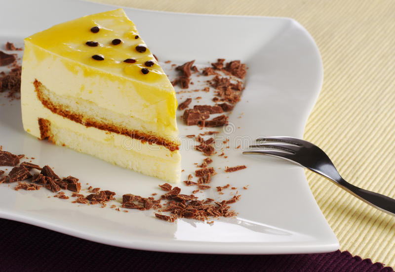 De Cake van Passionfruit royalty-vrije stock afbeeldingen