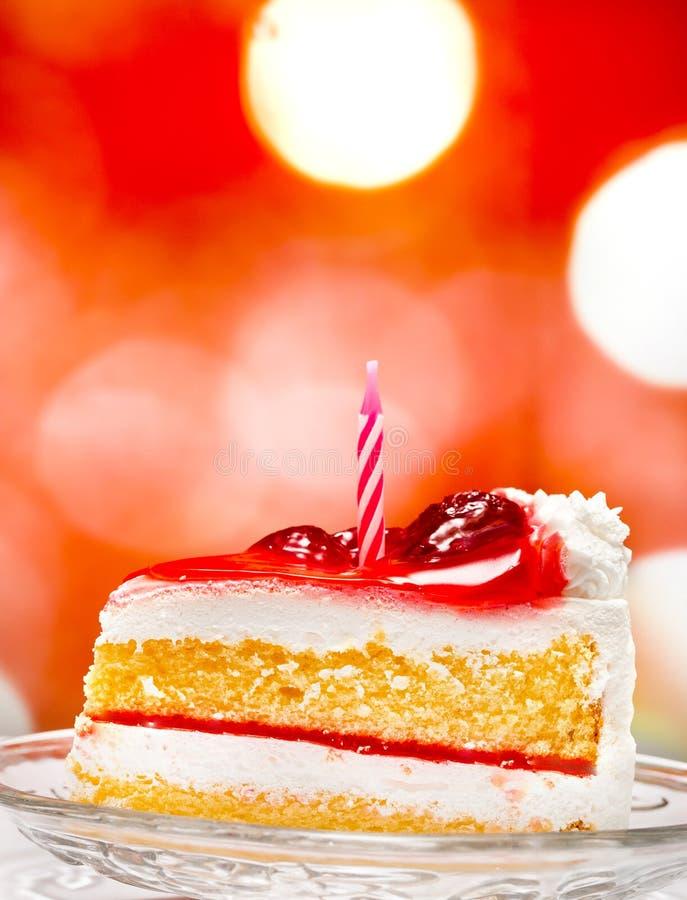 De Cake van de verjaardagsroom vertegenwoordigt Stuk viert en Viering stock foto