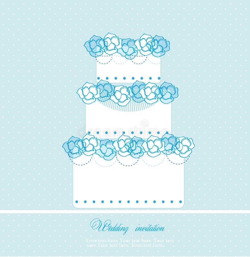 De cakekaart van het huwelijk vector illustratie