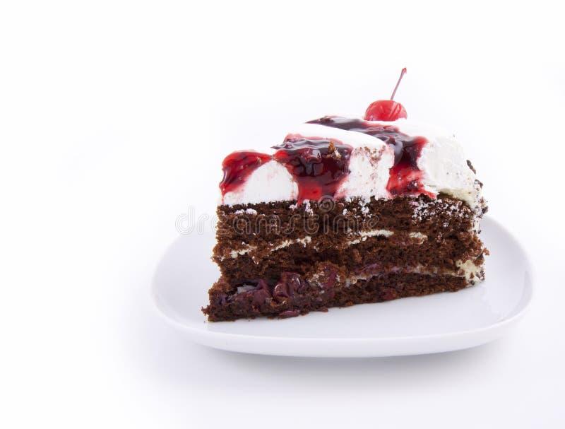 De cakeplak van de chocolade royalty-vrije stock foto
