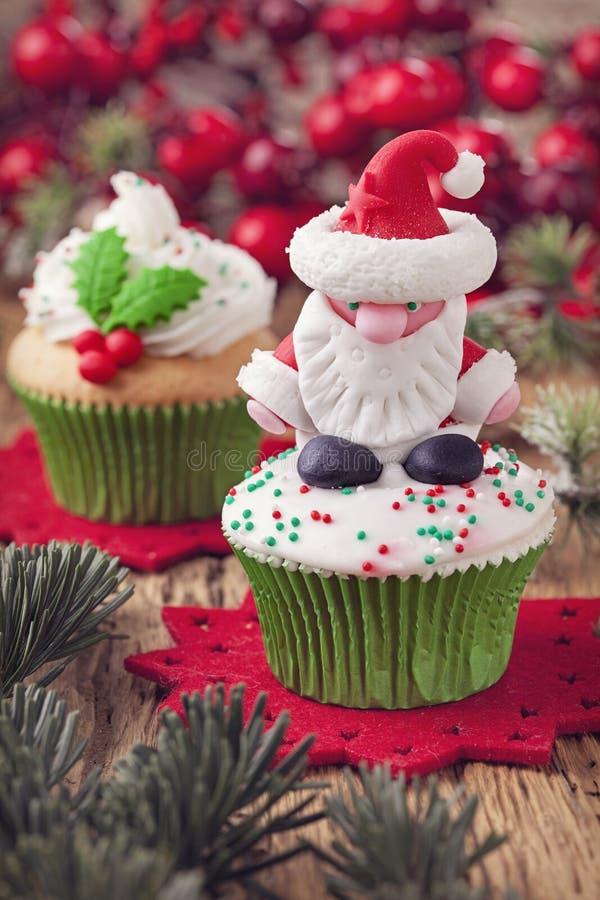 De cakes van de Kerstmiskop royalty-vrije stock fotografie