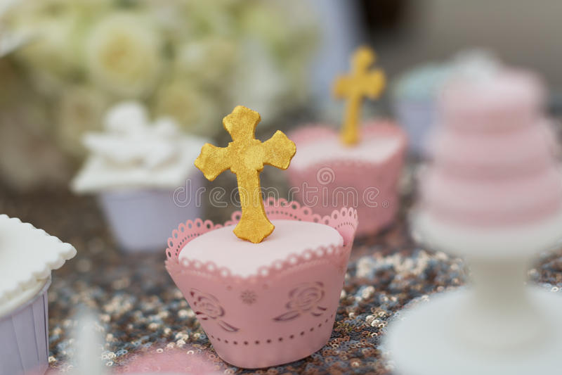 De cakes van de kop royalty-vrije stock fotografie