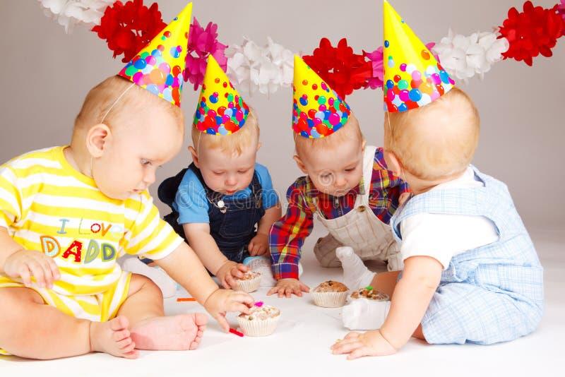 De cakes van de verjaardag royalty-vrije stock foto's