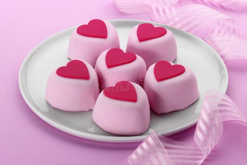 De Cakes van het hart stock foto's