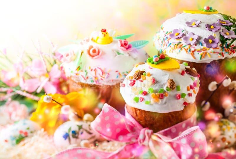 De Cakes van de lentepasen royalty-vrije stock foto's