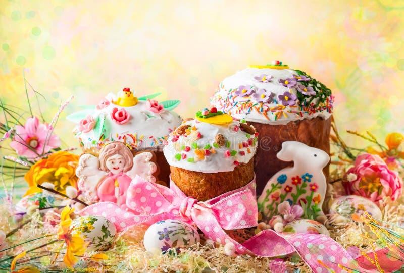 De Cakes van de lentepasen royalty-vrije stock foto