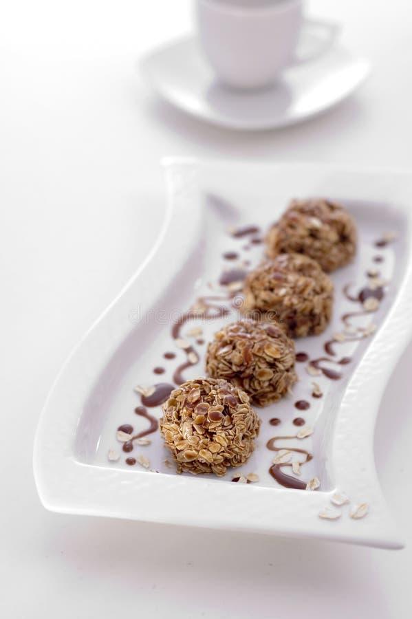 De cakes van snoepjes met chocolade stock fotografie