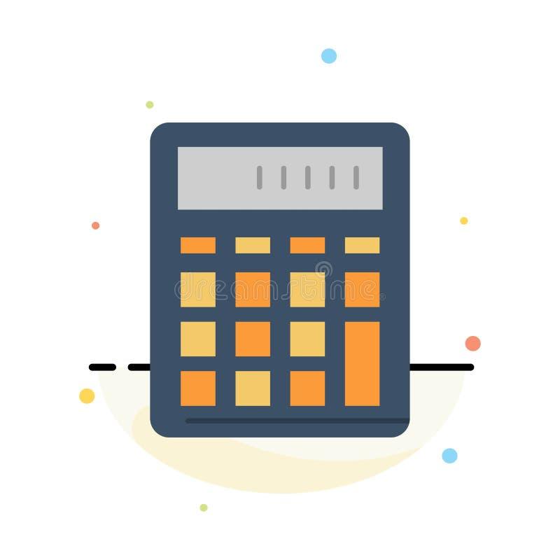 De calculator, Boekhouding, Zaken, berekent, Financieel, het Pictogrammalplaatje van de Wiskunde Abstract Vlak Kleur vector illustratie