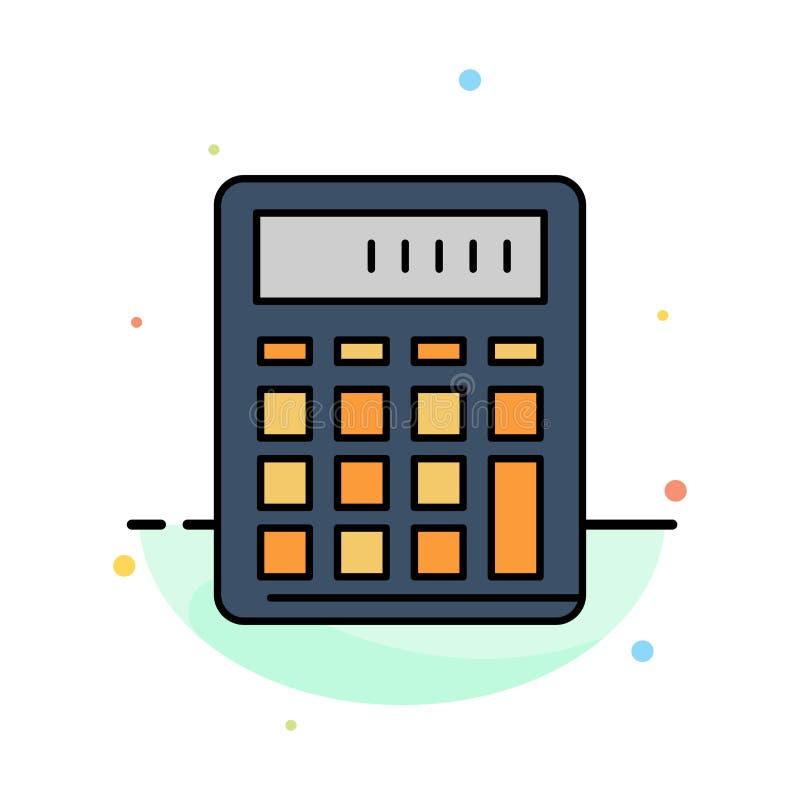 De calculator, Boekhouding, Zaken, berekent, Financieel, het Pictogrammalplaatje van de Wiskunde Abstract Vlak Kleur royalty-vrije illustratie