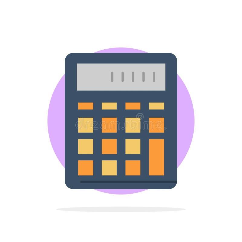 De calculator, Boekhouding, Zaken, berekent, Financieel, van de Achtergrond wiskunde Abstract Cirkel Vlak kleurenpictogram royalty-vrije illustratie