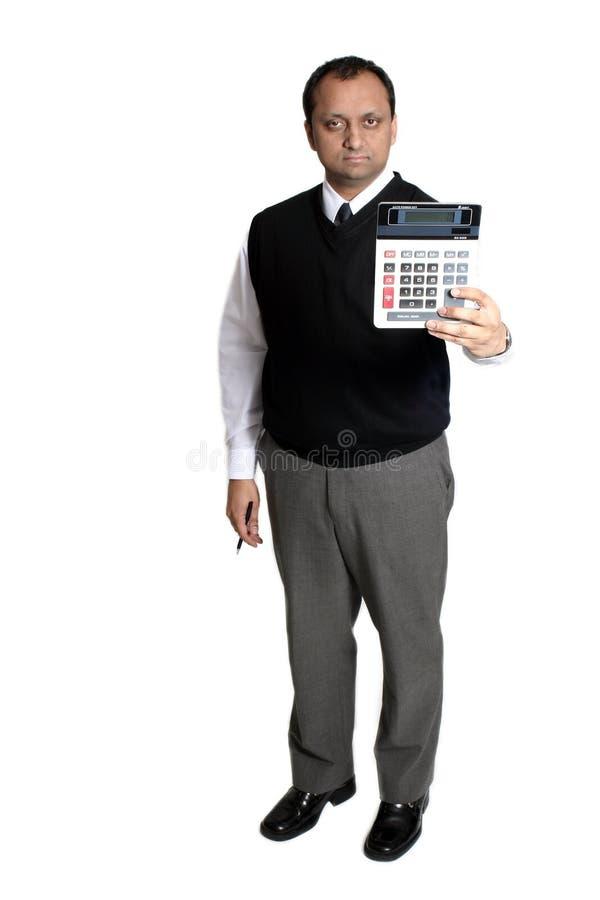 De calculator van de holding royalty-vrije stock foto