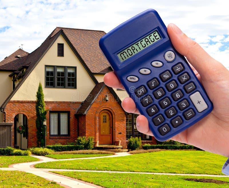 De calculator van de hypotheek royalty-vrije stock afbeelding