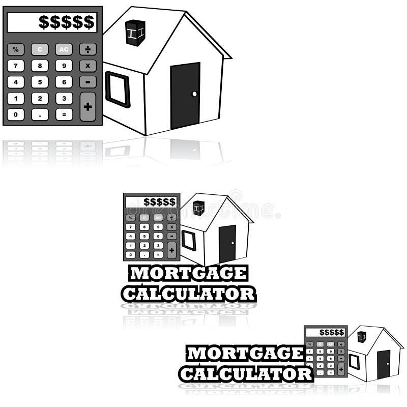 De Calculator van de hypotheek stock illustratie
