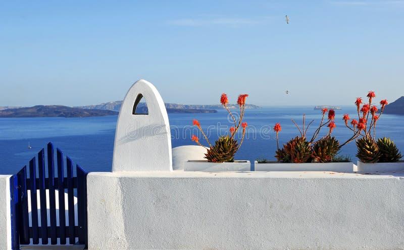 De calderamening van Santorini royalty-vrije stock afbeeldingen