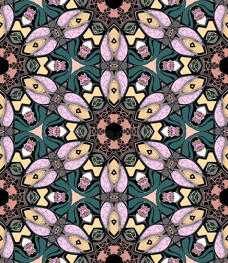 De caleidoscoop van het bloemmozaïek royalty-vrije illustratie