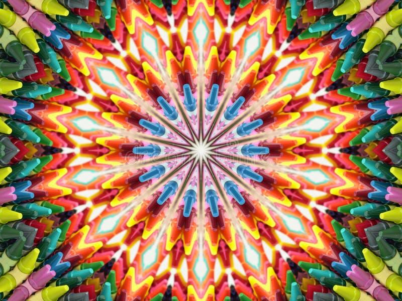 De Caleidoscoop van het kleurpotlood vector illustratie