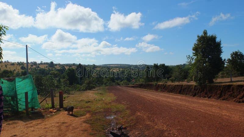 De Camboya Mondulkiri de la provincia interés mismo para los touris foto de archivo