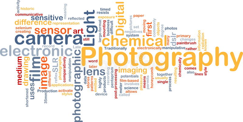 De camera van de achtergrond fotografie concept stock illustratie