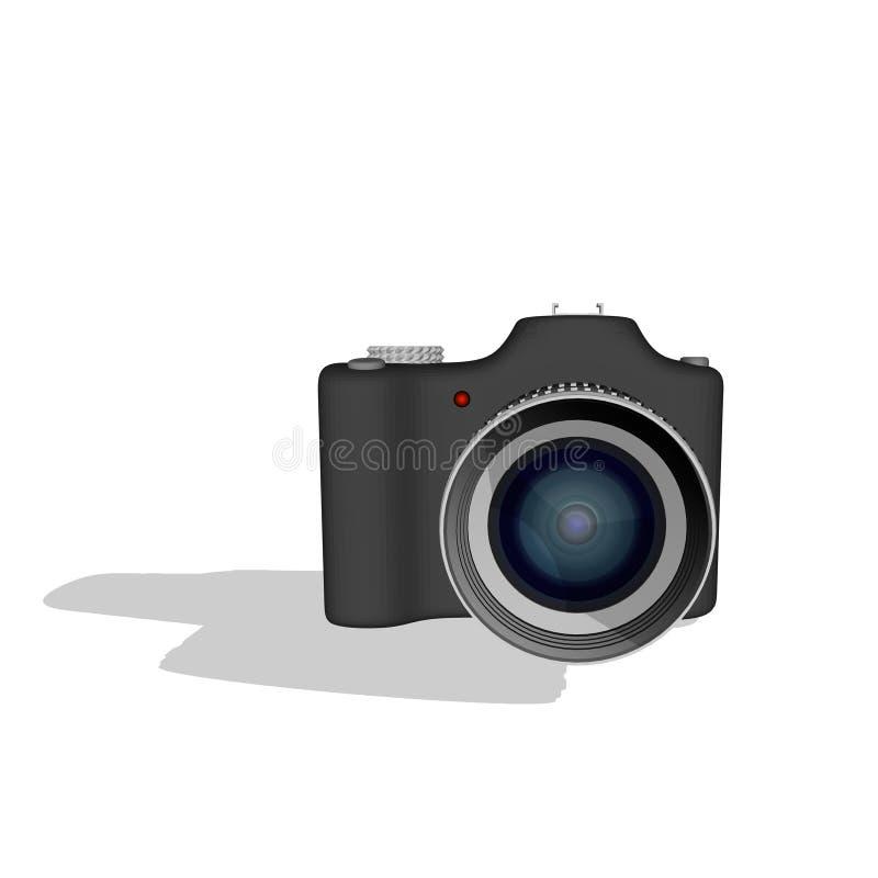 De camera van de foto Geïsoleerd op wit 3d vectorillustratie Voorzijde vi vector illustratie
