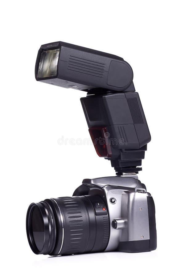 De camera van de foto met flits royalty-vrije stock foto's