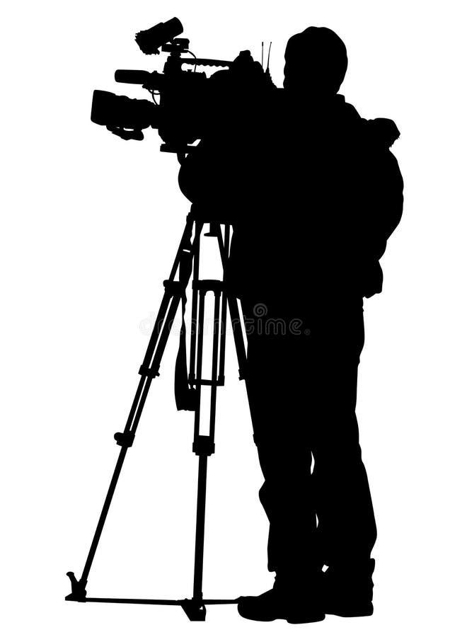 De camera van de televisie stock illustratie