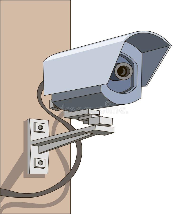 De camera van het toezicht vector illustratie