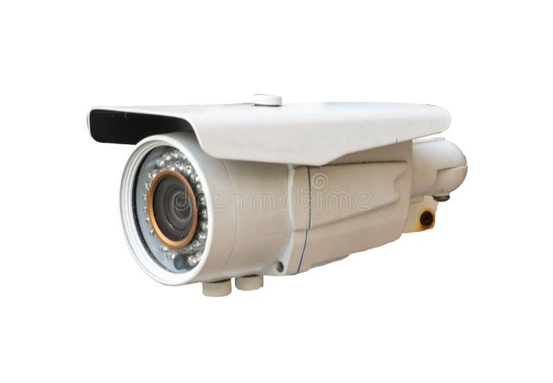 De camera van kabeltelevisie op witte achtergrond royalty-vrije stock foto