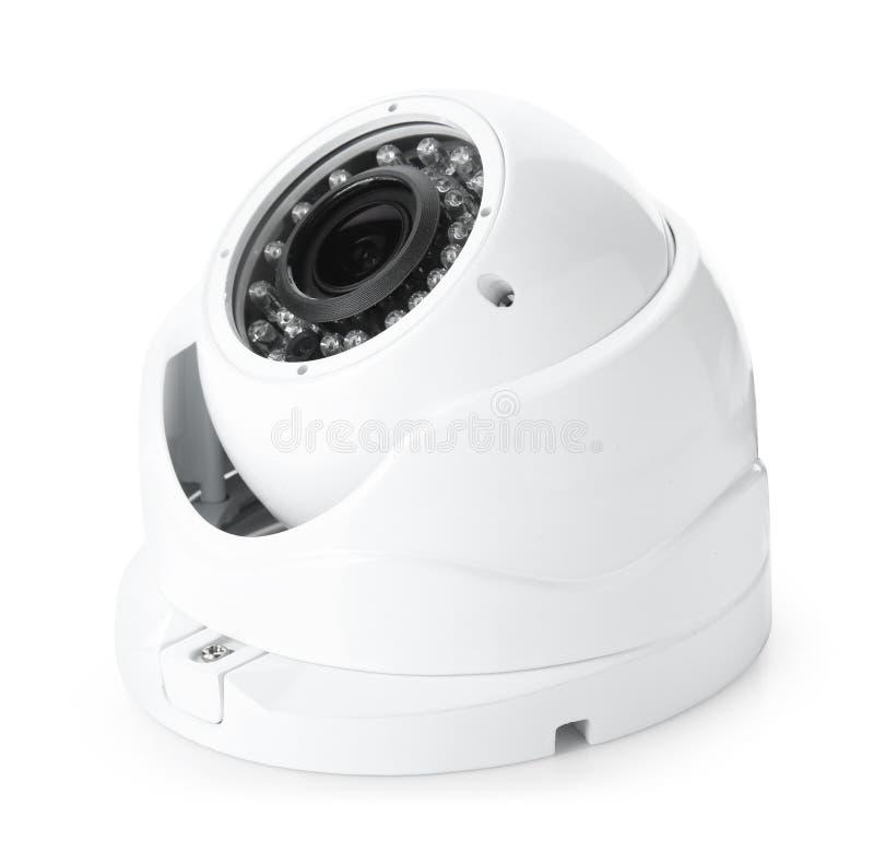 De camera van veiligheidskabeltelevisie, op wit wordt geïsoleerd dat royalty-vrije stock foto's