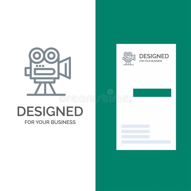De camera, vangt, filmt, Film, het Professionele Malplaatje van Grey Logo Design en van het Visitekaartje stock illustratie