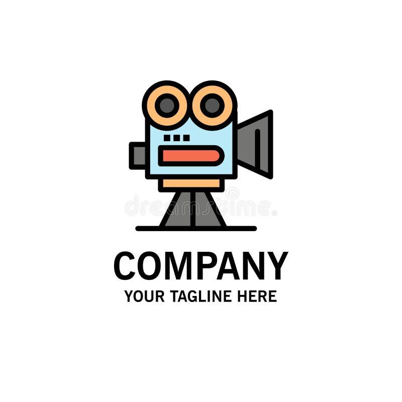 De camera, vangt, filmt, Film, Professionele Zaken Logo Template vlakke kleur royalty-vrije illustratie