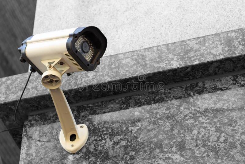 De cameraclose-up van de straatveiligheid, in openlucht stock afbeelding