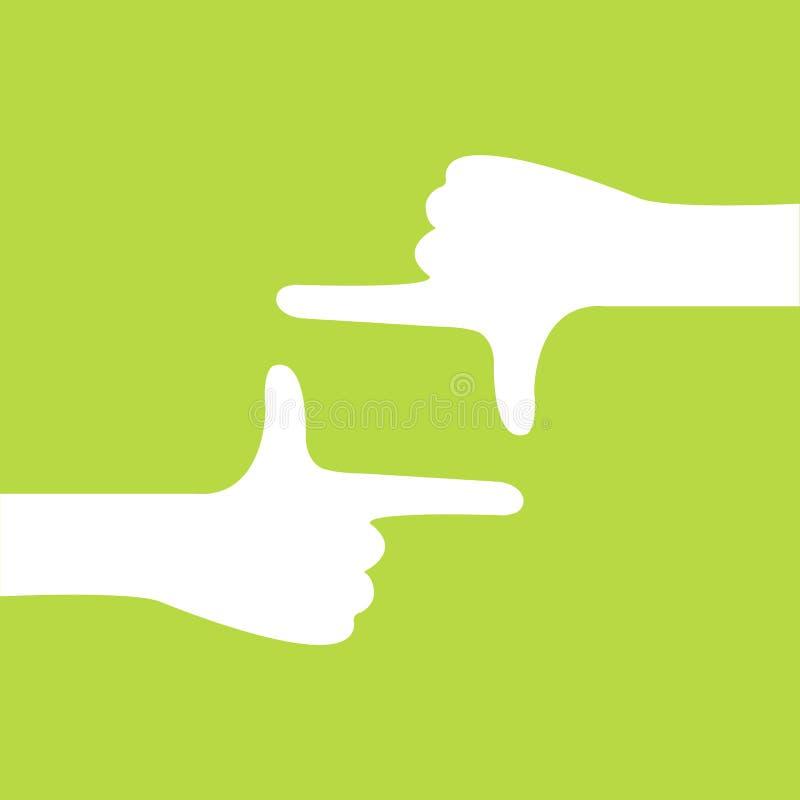 De cameragebaar van de hand vector illustratie