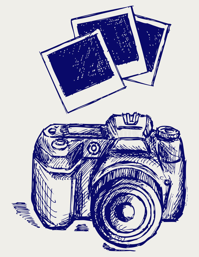 De cameraillustratie van de foto royalty-vrije illustratie