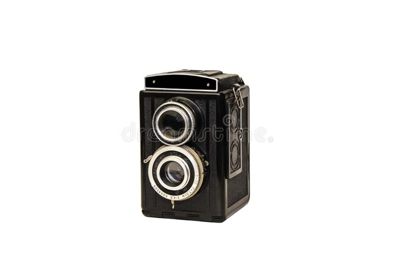 De cameralenzen van de film retro foto stock fotografie
