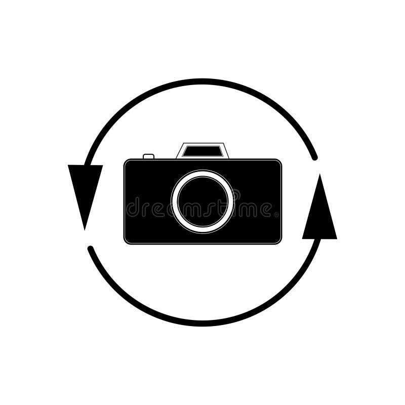 De cameraomwenteling van het telefoonpictogram - vectorillustratie vector illustratie