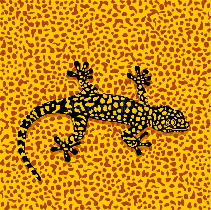 De camouflage van de salamander vector illustratie