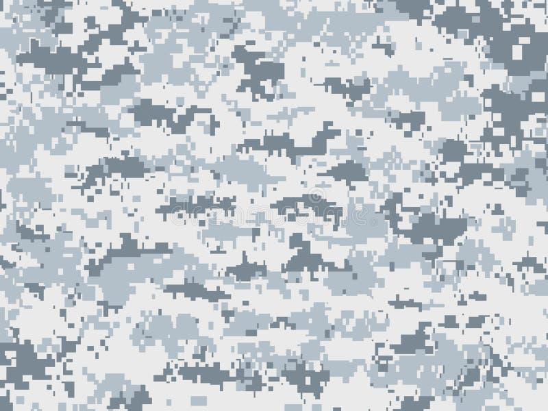 De camouflage van sneeuwpixel stock illustratie