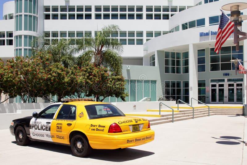 De campagne van de het Strandpolitie van Miami tegen het dronken drijven stock fotografie