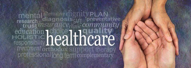De Campagnebanner van de gezondheidszorgarbeider royalty-vrije stock foto