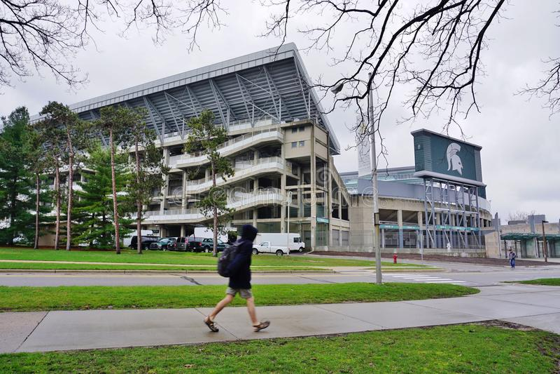De campus van de Universiteit van de Staat van Michigan stock afbeeldingen