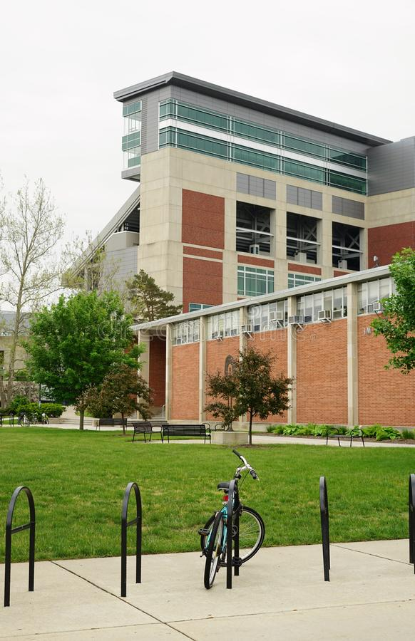 De campus van de Universiteit van de Staat van Michigan in Oost-Lansing, MI stock foto