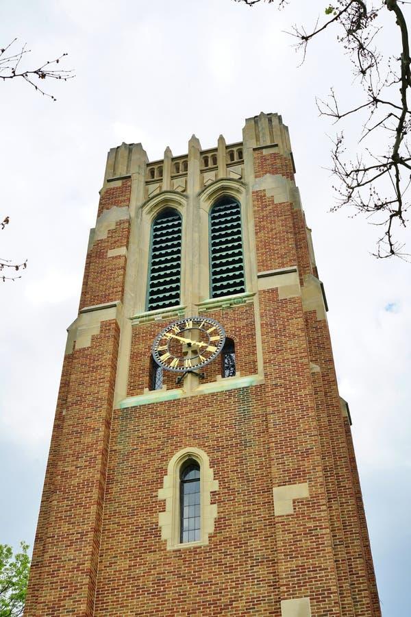 De campus van de Universiteit van de Staat van Michigan in Oost-Lansing, MI royalty-vrije stock afbeeldingen