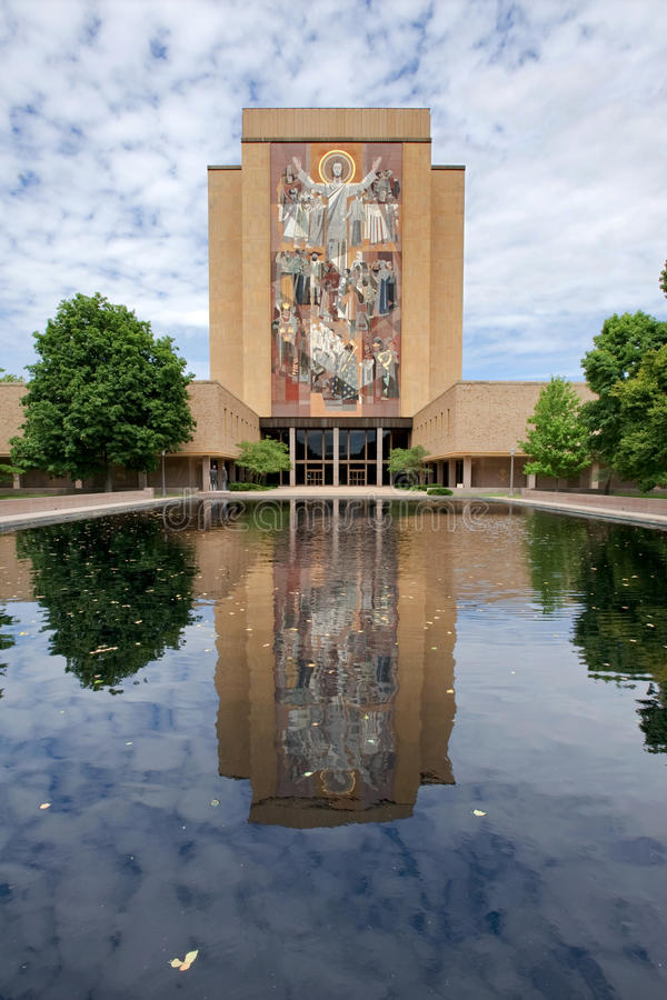 De campus van Notre Dame stock foto