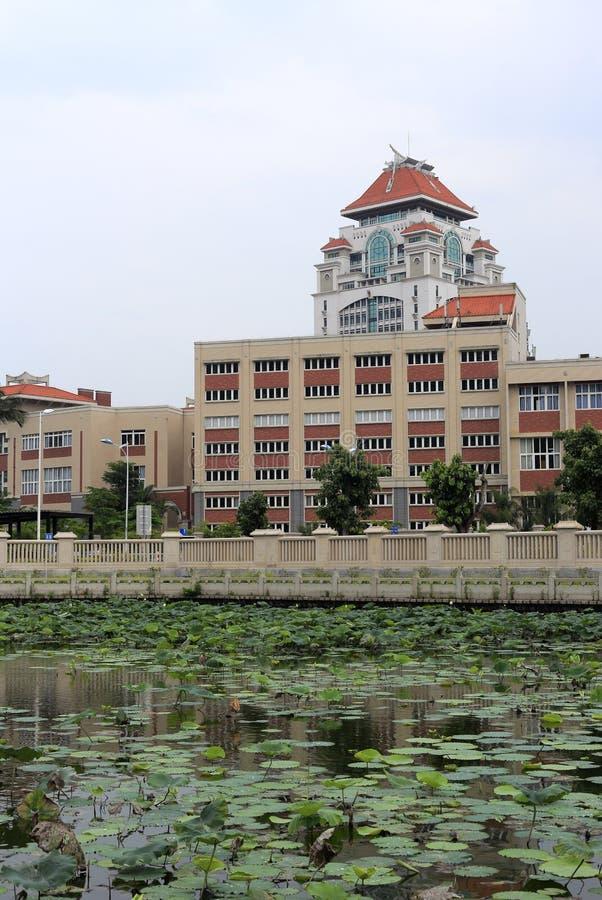 De campus van xiamen universiteit stock foto's