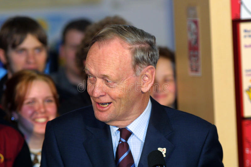 De Canadese eerste minister Jean chrétien 2003 stock afbeeldingen