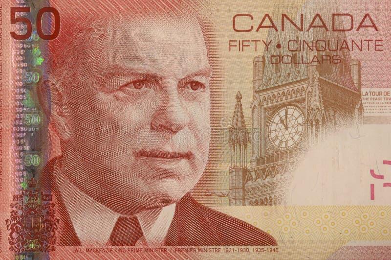 Download De Canadese Hoek Van De 50 Dollarrekening Stock Afbeelding - Afbeelding bestaande uit bank, hoek: 279627