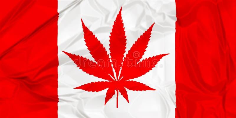 De Canadese vlag van het cannabisblad royalty-vrije stock afbeelding
