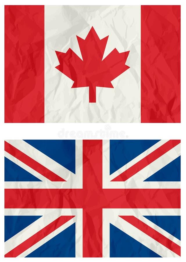 De Canadese vlag van het Verenigd Koninkrijk en