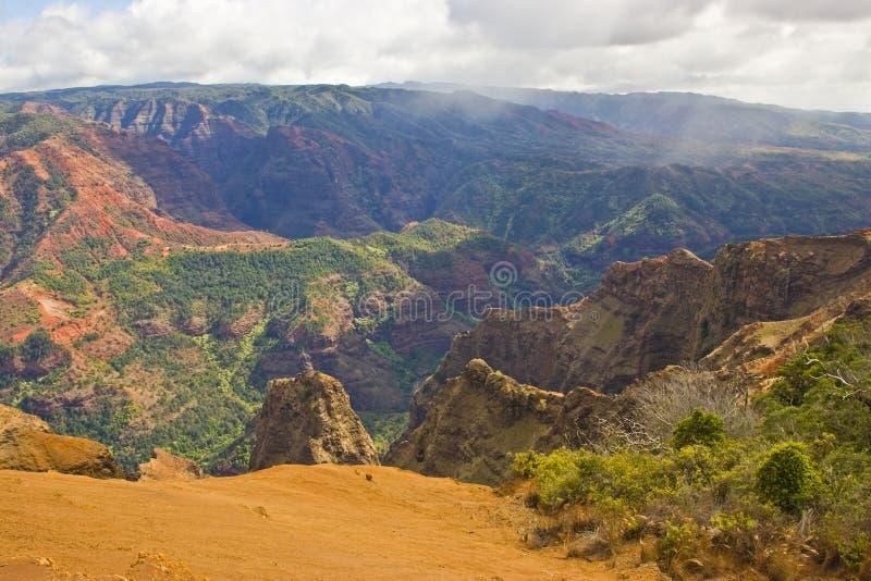 De Canion Kauai Hawaï van Waimea stock foto