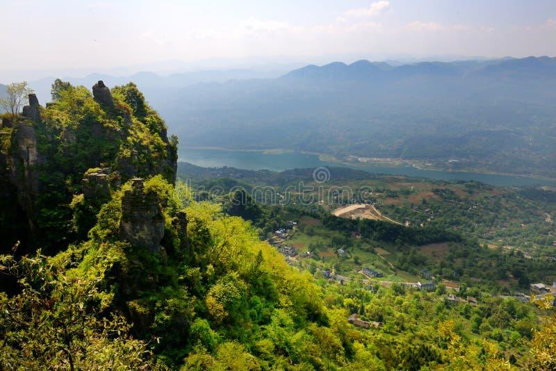 De Canion Toneelgebied van China royalty-vrije stock fotografie